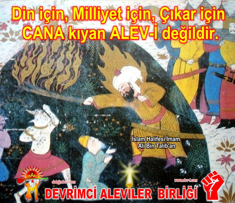 Devrimci Aleviler Birliği DAB Alevi Kızılbaş Bektaşi pir sultan cem hz Ali 12 imam semah Feramuz Şah Acar Din icin miliyet icin cana kiyan bizden dedgildir ali bin taliban