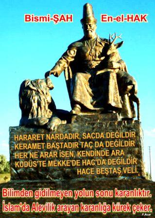 Devrimci Aleviler Birliği DAB Alevi Kızılbaş Bektaşi pir sultan cem hz Ali 12 imam semah Feramuz Şah Acar karanlik kürek hbvheykelson