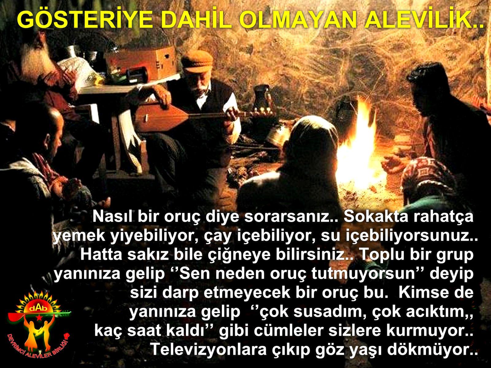 Devrimci Aleviler Birliği DAB Alevi Kızılbaş Bektaşi pir sultan cem hz Ali 12 imam semah Feramuz Şah Acar oruc alevilik