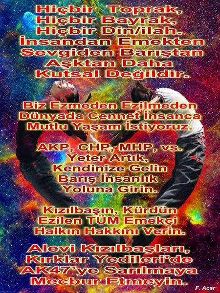 Devrimci Aleviler Birliği DAB Alevi Kızılbaş Bektaşi pir sultan cem hz Ali 12 imam semah Feramuz Şah Acar photo_442647469216981