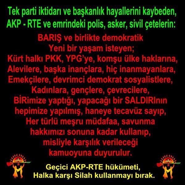 Devrimci Aleviler Birliği DAB Alevi Kızılbaş Bektaşi pir sultan cem hz Ali 12 imam semah Feramuz Şah Acar photo_548648461950214