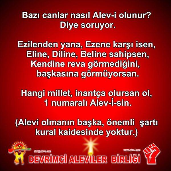 Devrimci Aleviler Birliği DAB Alevi Kızılbaş Bektaşi pir sultan cem hz Ali 12 imam semah Feramuz Şah Acar photo_549781945170199