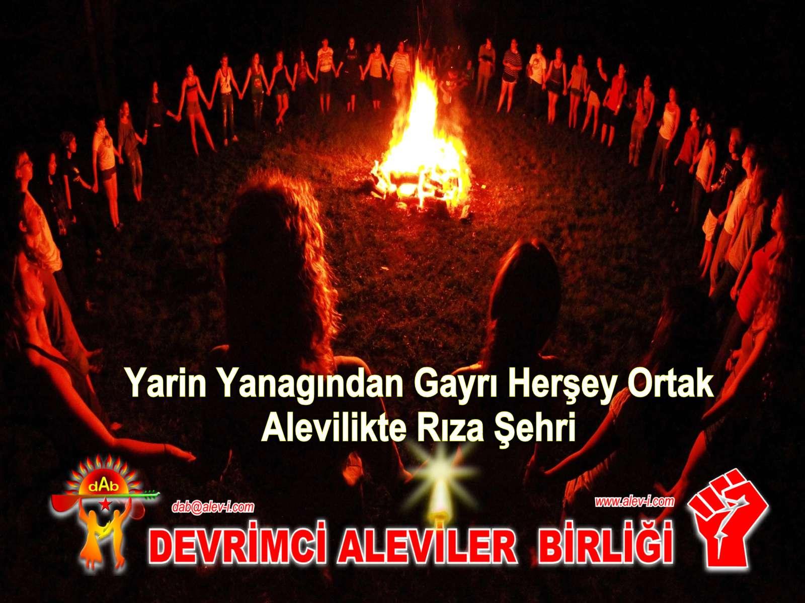 Devrimci Aleviler Birliği DAB Alevi Kızılbaş Bektaşi pir sultan cem hz Ali 12 imam semah Feramuz Şah Acar riza sehri1
