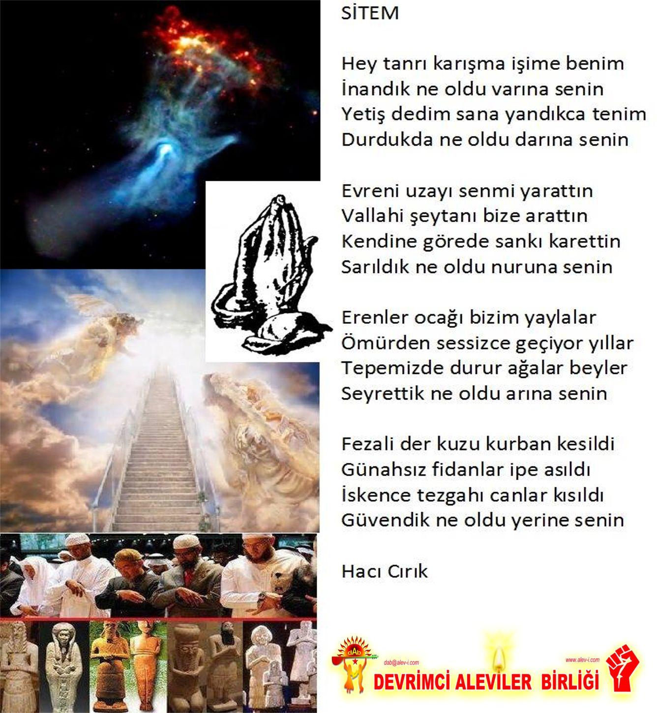 Devrimci Aleviler Birliği DAB Alevi Kızılbaş Bektaşi pir sultan cem hz Ali 12 imam semah Feramuz Şah Acar senin stimen haci cirik