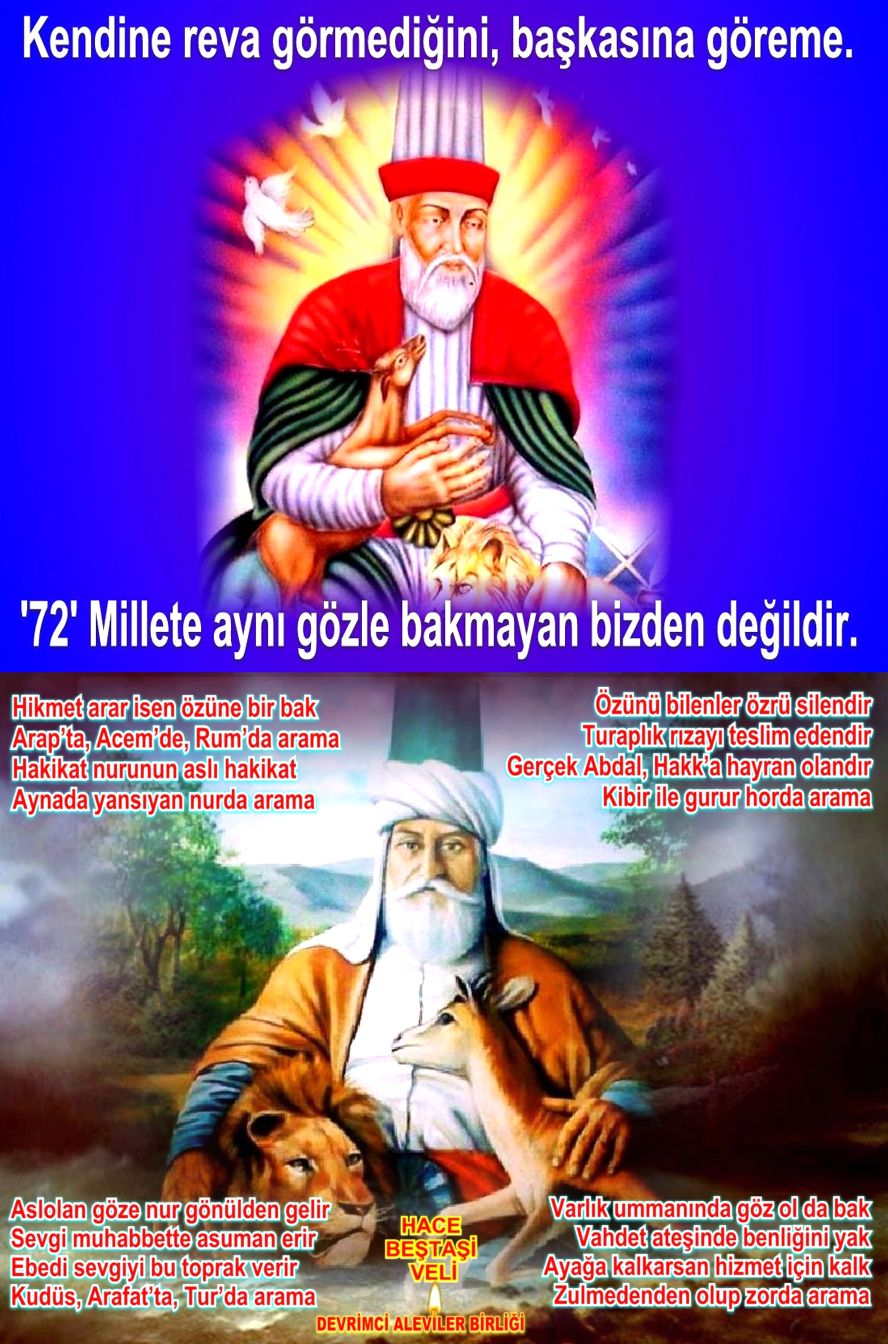 Devrimci Aleviler Birliği DAB Alevi Kızılbaş Bektaşi pir sultan cem hz Ali 12 imam semah Feramuz Şah Acar silinirhbv 72 millet