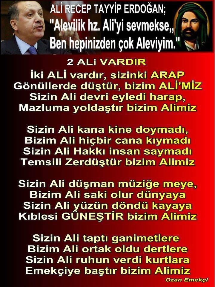 Alevi Bektaşi Kızılbaş Pir Sultan İslam dışı Atatürk faşist Devrimci Aleviler Birliği DAB arap ali