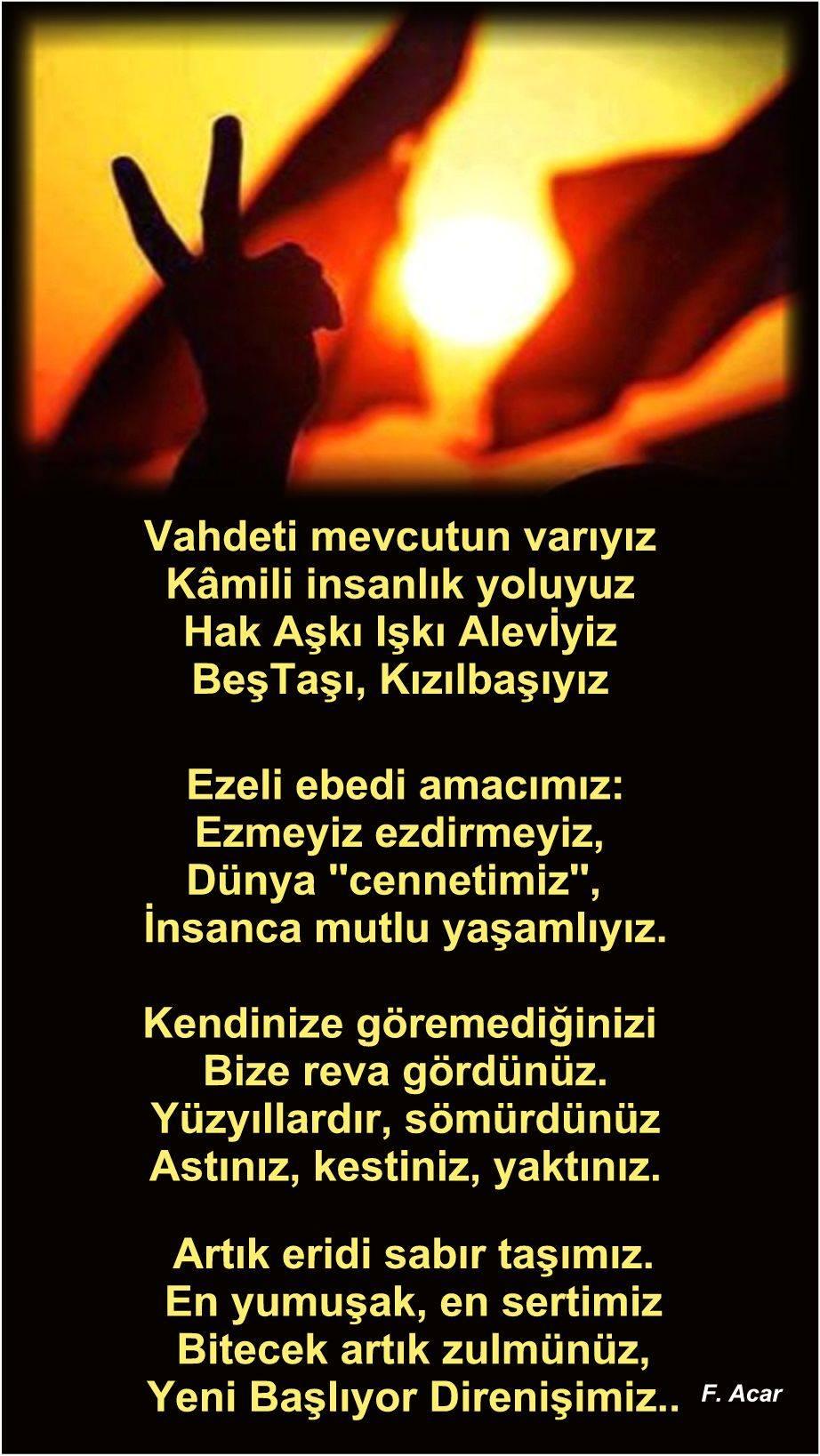 Alevi Bektaşi Kızılbaş Pir Sultan İslam dışı Atatürk faşist Devrimci Aleviler Birliği DAB feramuz şiir
