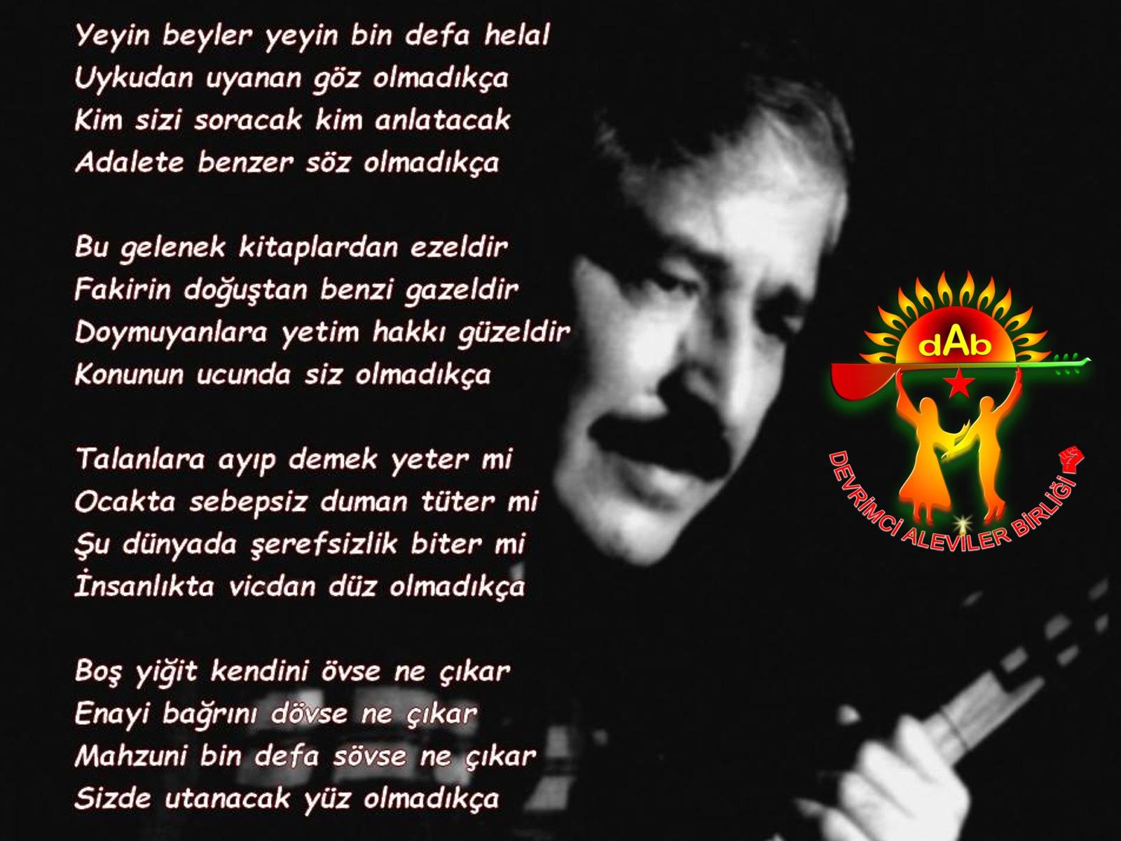 Alevi Bektaşi Kızılbaş Pir Sultan İslam dışı Atatürk faşist Devrimci Aleviler Birliği DAB mahzuni4
