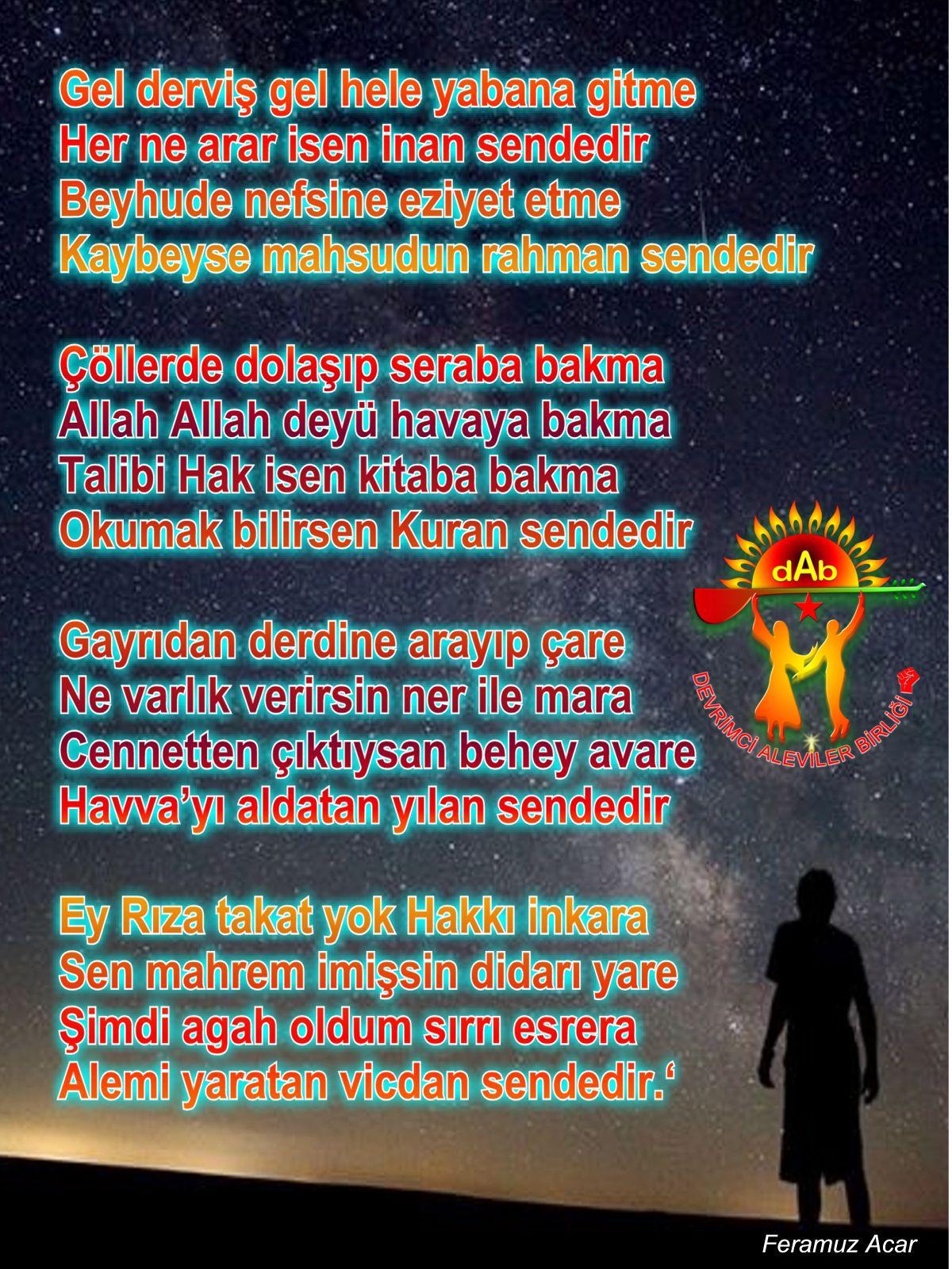 Alevi Bektaşi Kızılbaş Pir Sultan İslam dışı Atatürk faşist ehlibeyt 12 imam Devrimci Aleviler Birliği DAB sendedir