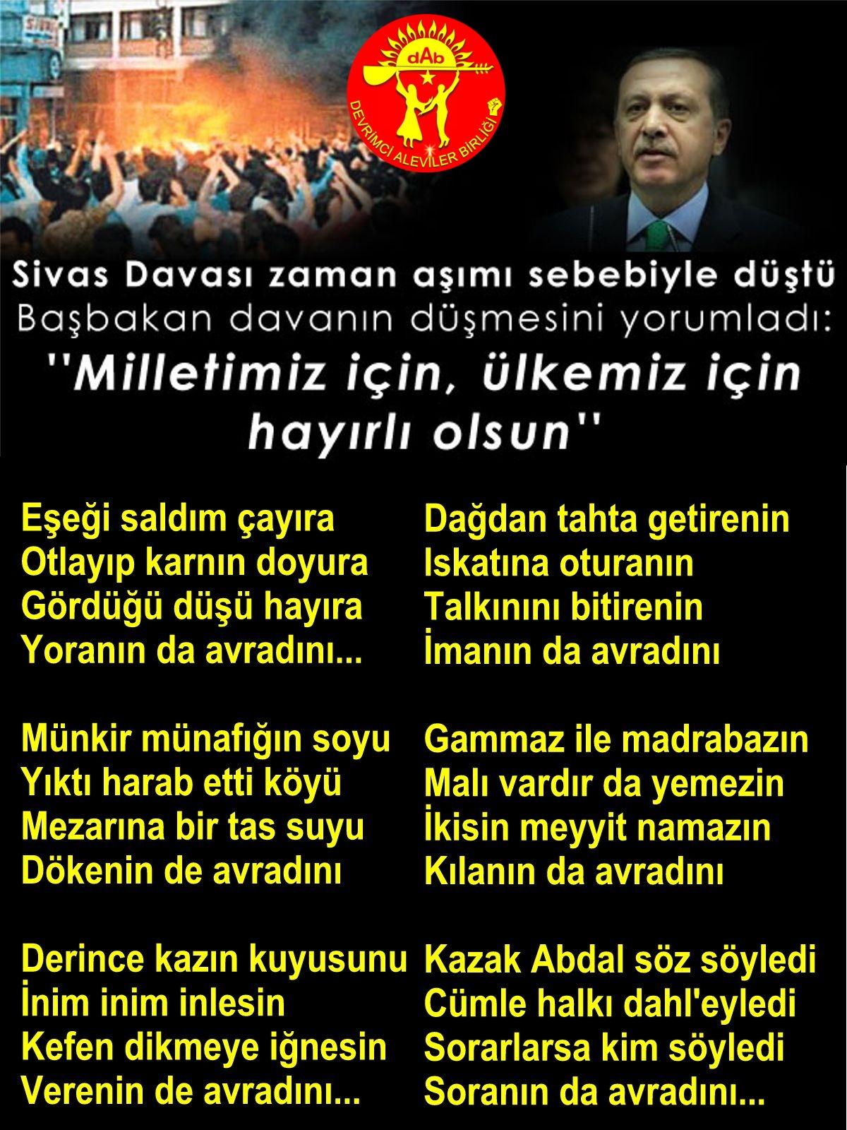 Alevi Bektaşi Kızılbaş Pir Sultan Devrimci Aleviler Birliği DAB avradini AKP islam