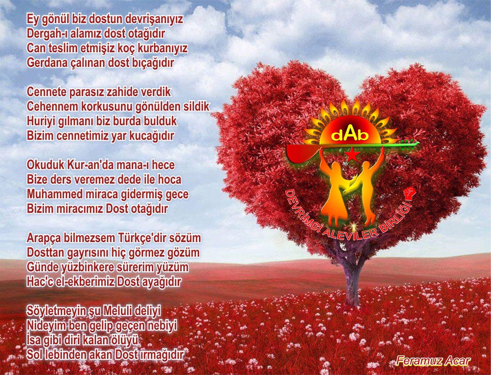 Alevi Bektaşi Kızılbaş Pir Sultan Devrimci Aleviler Birliği DAB dervisaniyiz