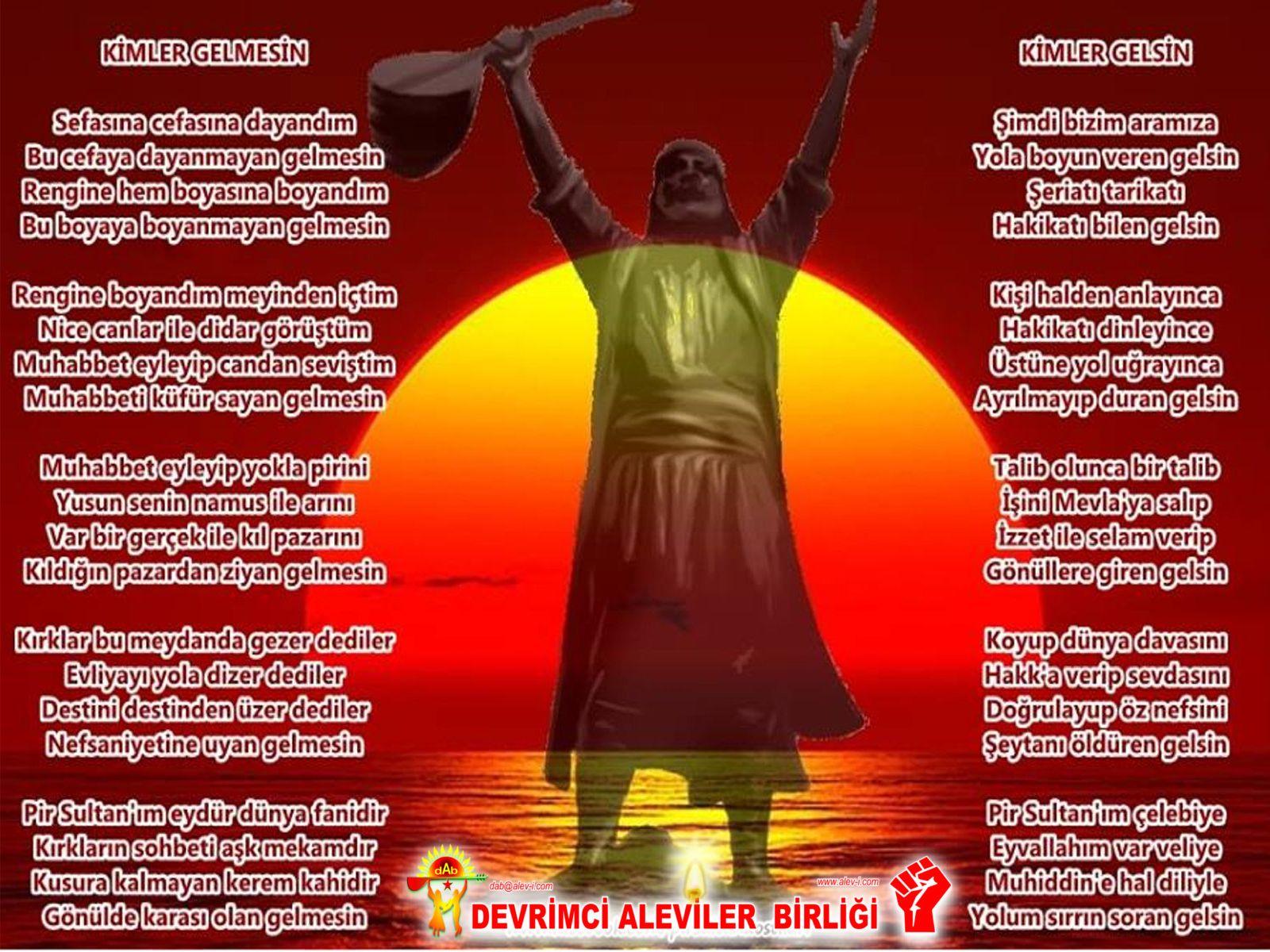Alevi Bektaşi Kızılbaş Pir Sultan Devrimci Aleviler Birliği DAB devrimci Aleviler birligi gelsin gelmesin pirsultan