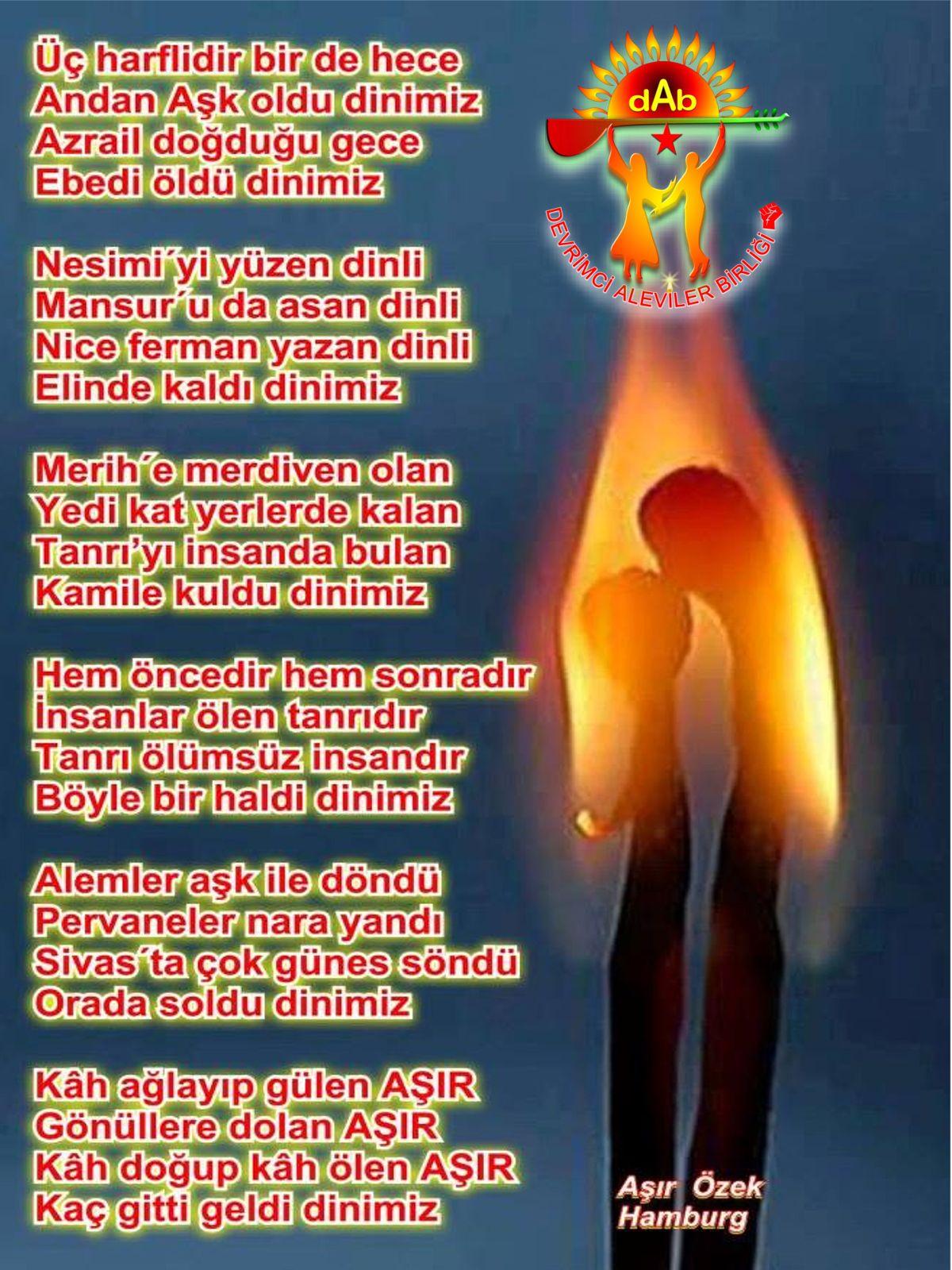 Alevi Bektaşi Kızılbaş Pir Sultan Devrimci Aleviler Birliği DAB dinimiz DAB
