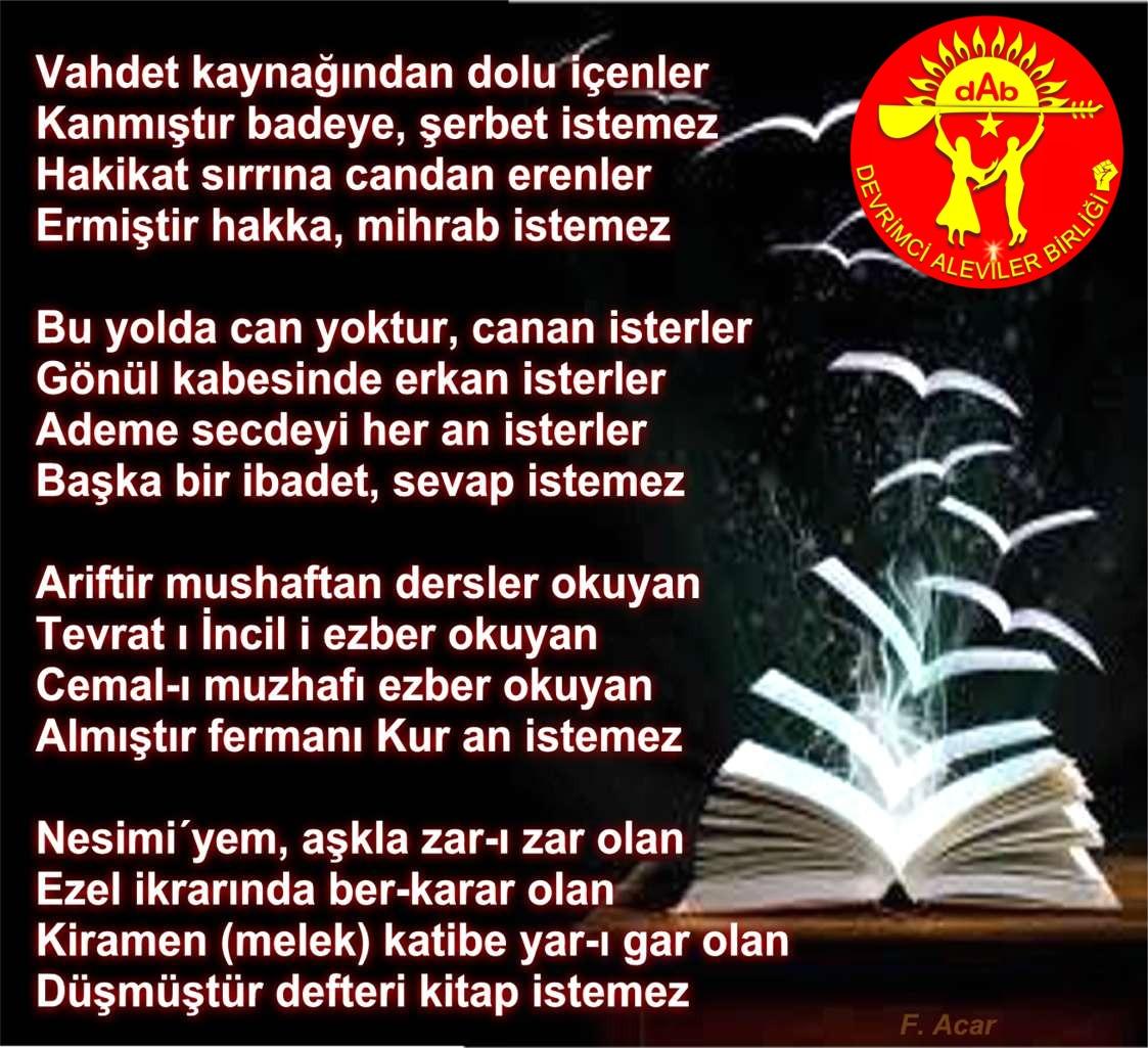 Alevi Bektaşi Kızılbaş Pir Sultan Devrimci Aleviler Birliği DAB istemez