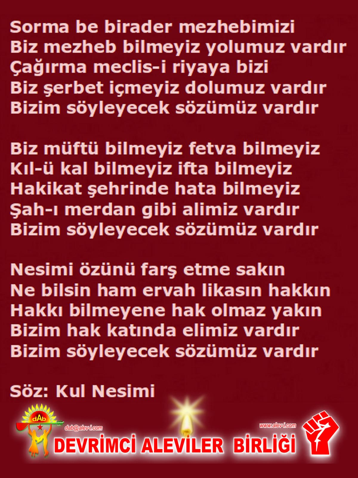 Alevi Bektaşi Kızılbaş Pir Sultan Devrimci Aleviler Birliği DAB nesimi xxx