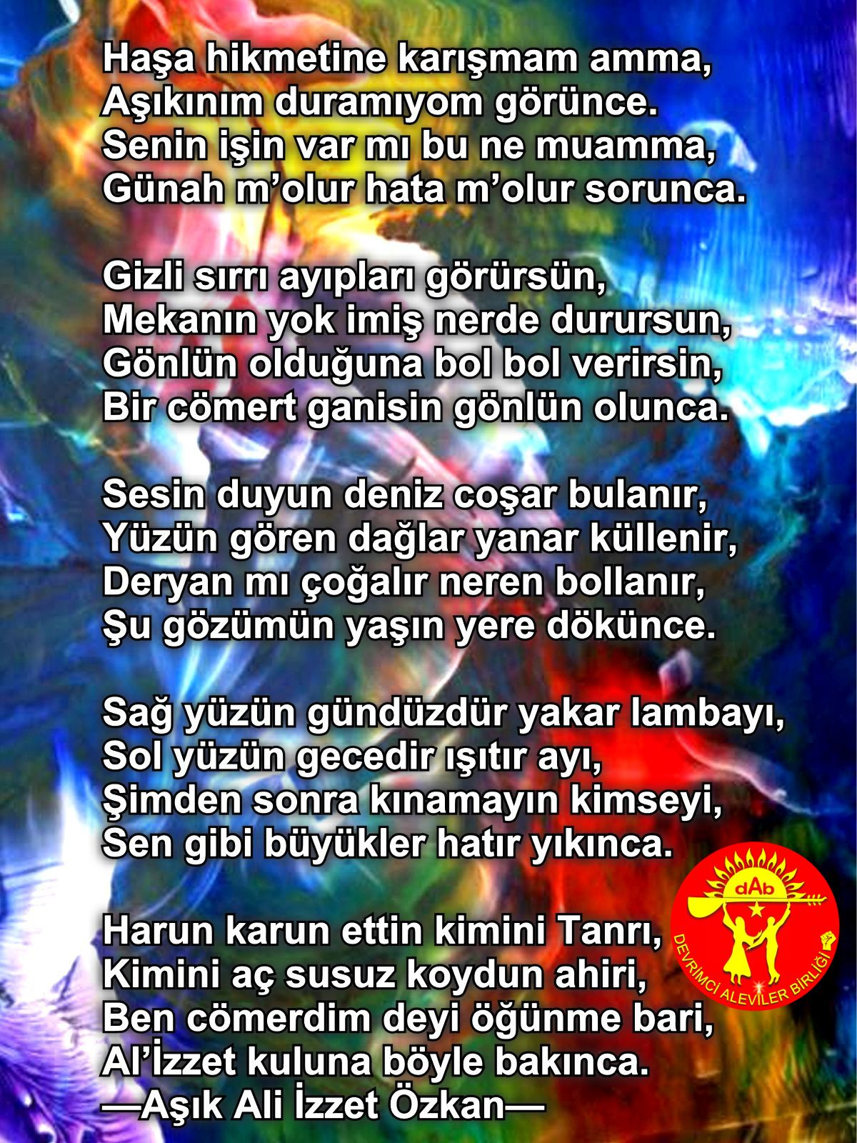 Alevi Bektaşi Kızılbaş Pir Sultan Devrimci Aleviler Birliği DAB tanri3