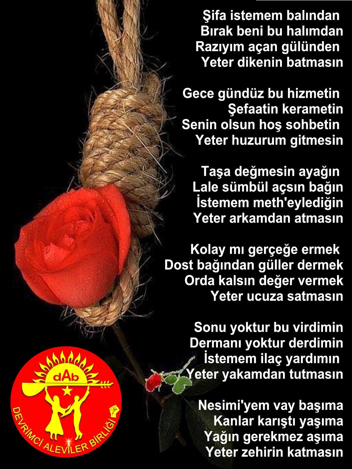 Alevi Bektaşi Kızılbaş Pir Sultan Devrimci Aleviler Birliği DAB yeter