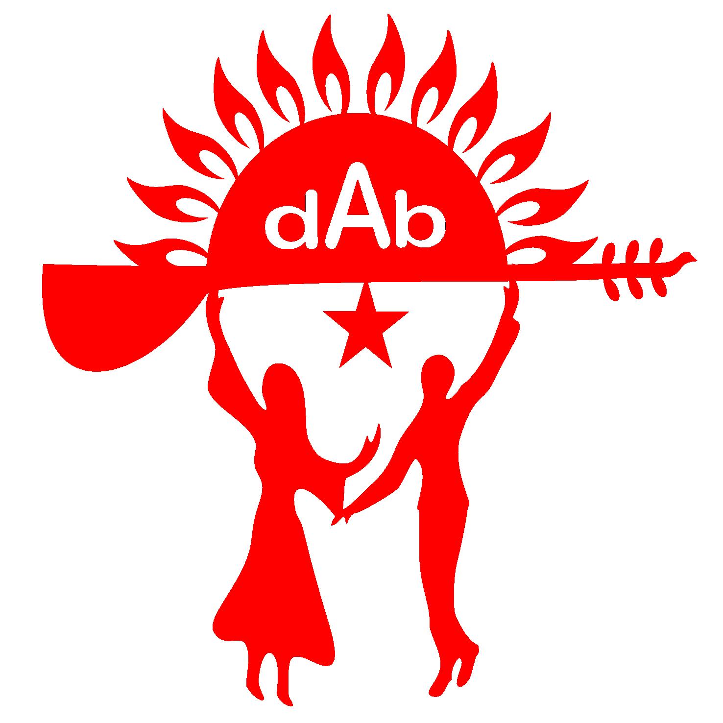 DAB logo kirmizi red