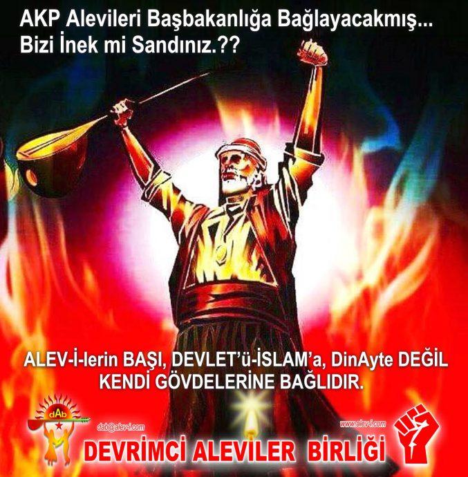 akp alevileri basbakanlik diyanet baglayacakmis pir Sultan Bektasi Feramuz Acar Devrimci Aleviler Birligi turban DAB baglama