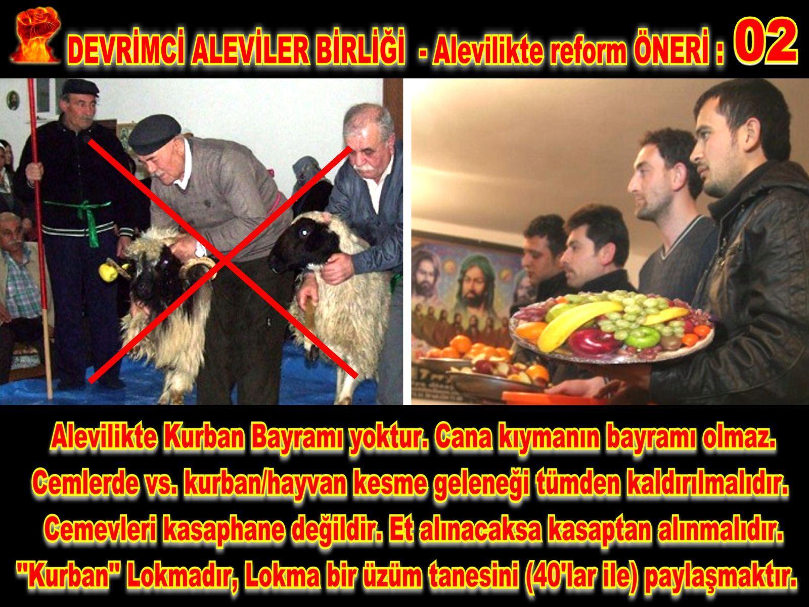 Devrimci Aleviler Birliği DAB Alevi Kızılbaş Bektaşi pir sultan cem hz Ali 12 imam semah Feramuz Şah Acar REFOM oneri2
