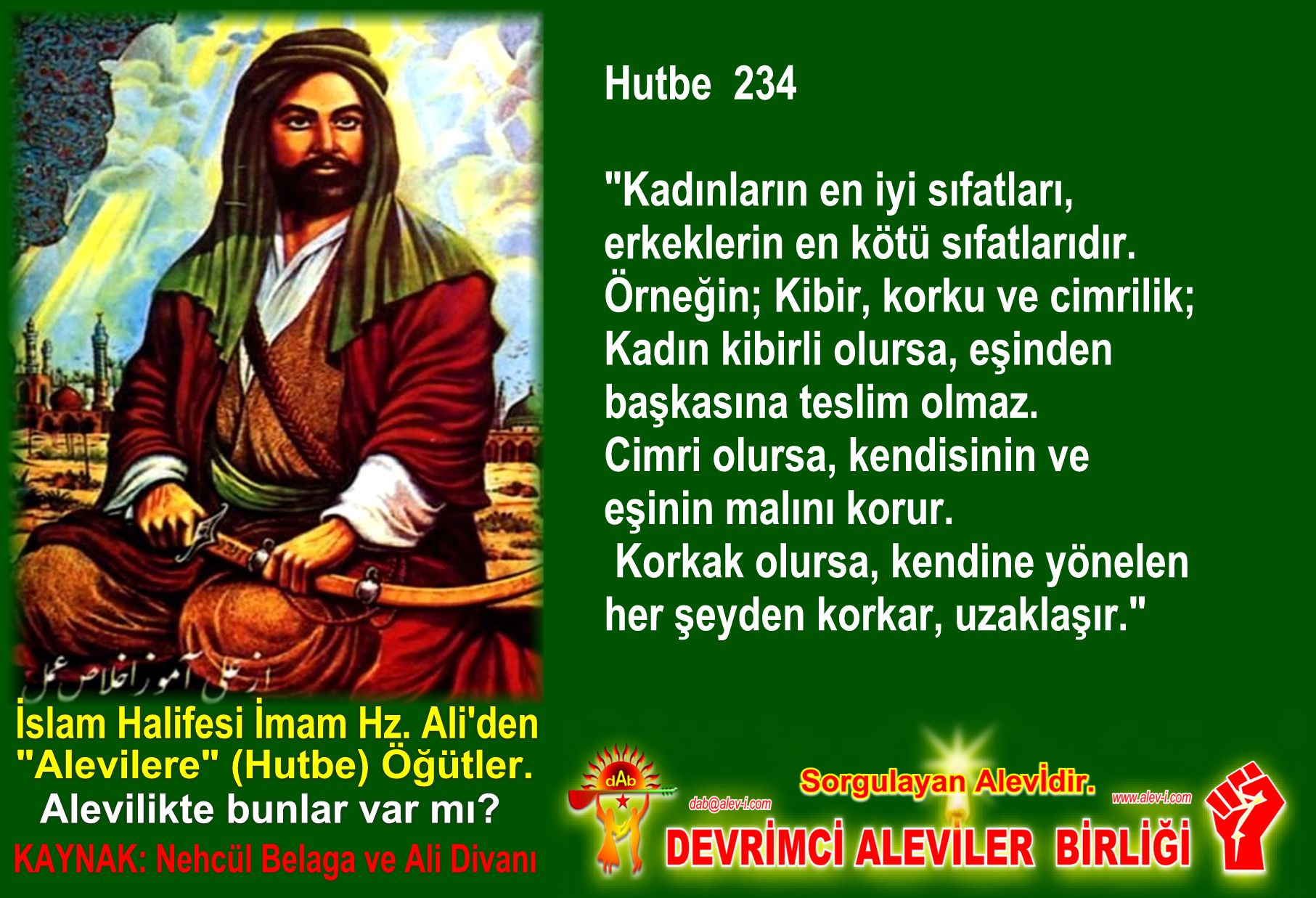 Devrimci Aleviler Birliği DAB Alevi Kızılbaş Bektaşi pir sultan cem hz Ali 12 imam semah Feramuz Şah Acar halife imam hz ali den hutbe ogut inciler 8