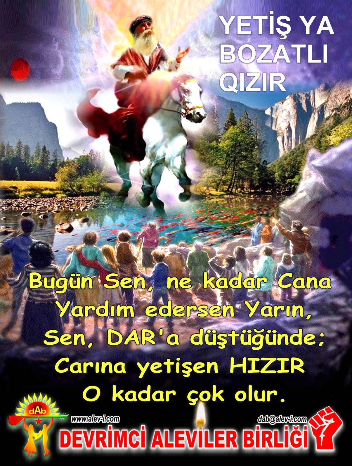 Devrimci Aleviler Birliği DAB Alevi Kızılbaş Bektaşi pir sultan cem hz Ali 12 imam semah Feramuz Şah Acar hizir hazir boz atli hizir DAB