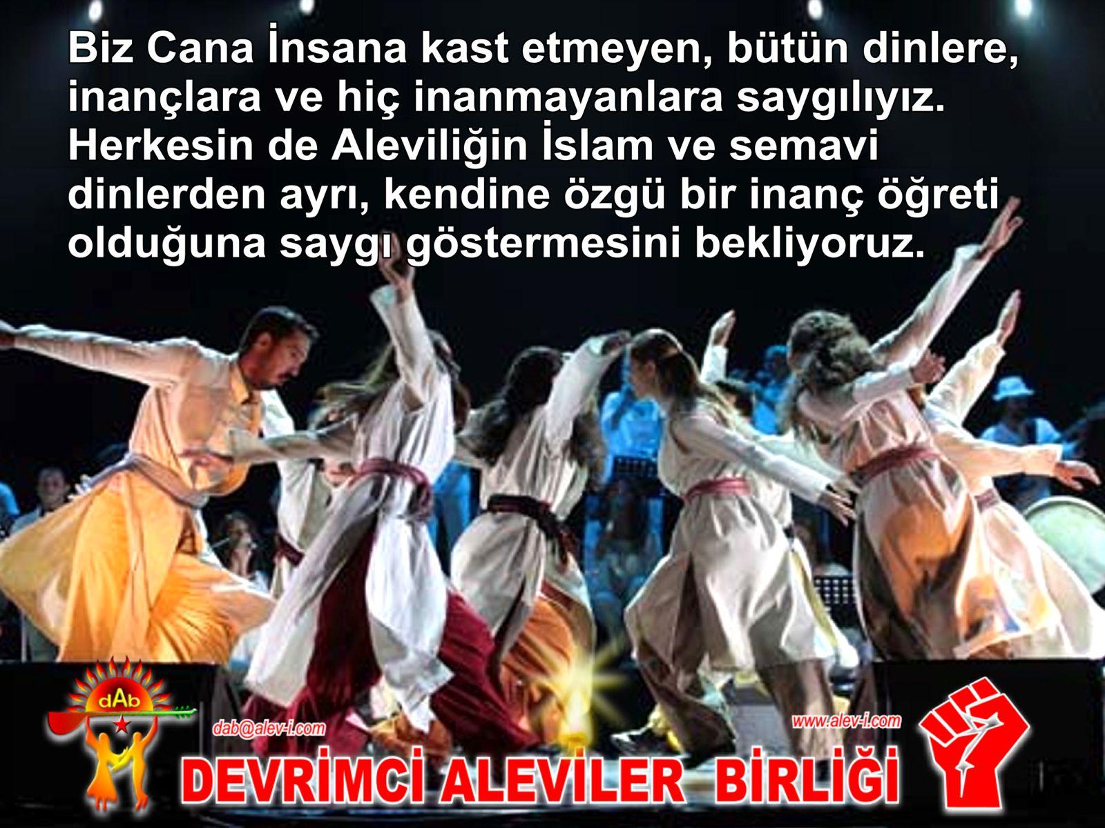 Devrimci Aleviler Birliği DAB Alevi Kızılbaş Bektaşi pir sultan cem hz Ali 12 imam semah Feramuz Şah Acar islamdan ayri alevi saygii goster