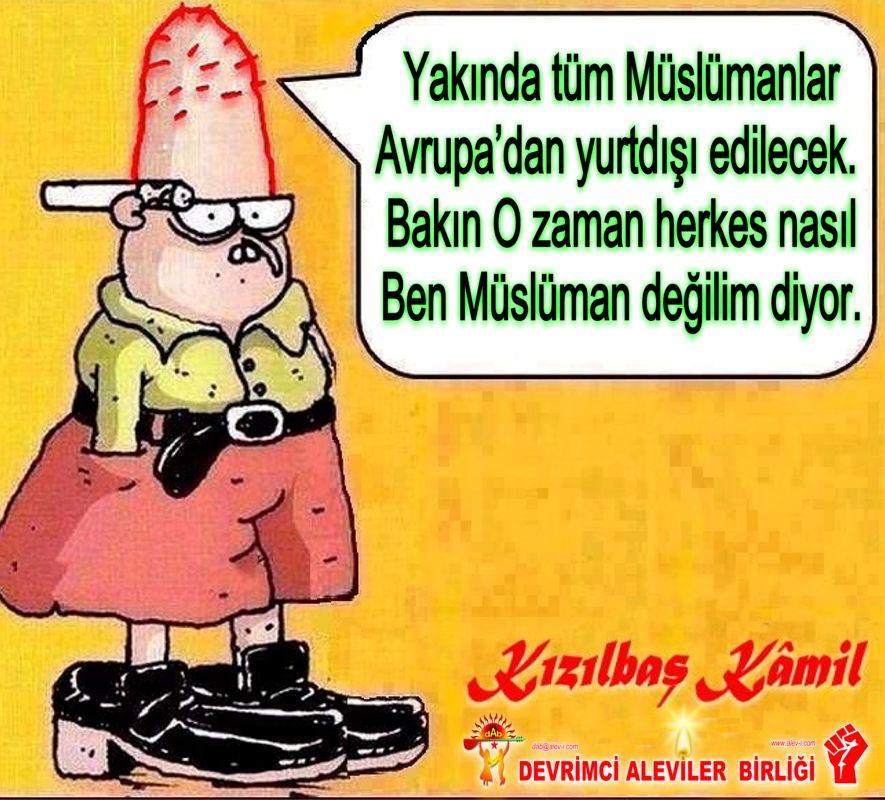 Devrimci Aleviler Birliği DAB Alevi Kızılbaş Bektaşi pir sultan cem hz Ali 12 imam semah Feramuz Şah Acar muslüman degilim yurtdisi edilecek
