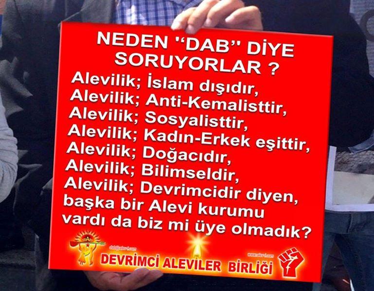 Devrimci Aleviler Birliği DAB Alevi Kızılbaş Bektaşi pir sultan cem hz Ali 12 imam semah Feramuz Şah Acar neden dab