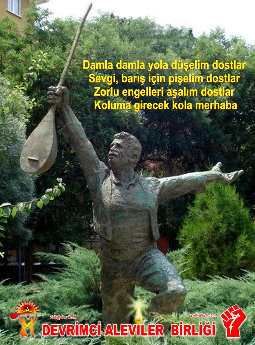 Devrimci Aleviler Birliği DAB Alevi Kızılbaş Bektaşi pir sultan cem hz Ali 12 imam semah Feramuz Şah Acar ozan sazxx