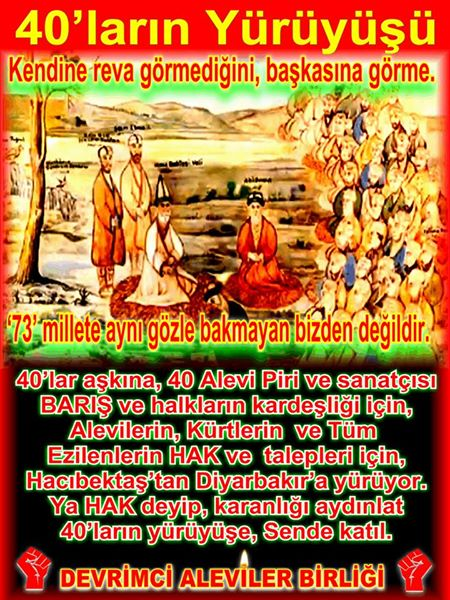 Devrimci Aleviler Birliği DAB Alevi Kızılbaş Bektaşi pir sultan cem hz Ali 12 imam semah Feramuz Şah Acar photo_401410726673989