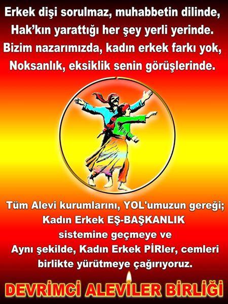 Devrimci Aleviler Birliği DAB Alevi Kızılbaş Bektaşi pir sultan cem hz Ali 12 imam semah Feramuz Şah Acar photo_401412396673822