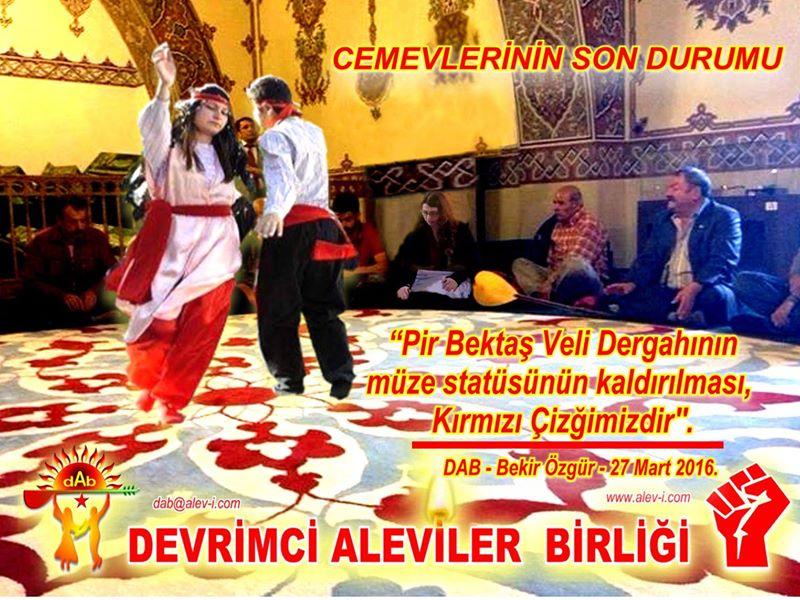 Devrimci Aleviler Birliği DAB Alevi Kızılbaş Bektaşi pir sultan cem hz Ali 12 imam semah Feramuz Şah Acar photo_658172924331100