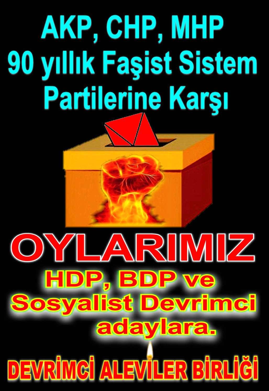 Devrimci Aleviler Birliği DAB Alevi Kızılbaş Bektaşi pir sultan cem hz Ali 12 imam semah Feramuz Şah Acar sandik oy
