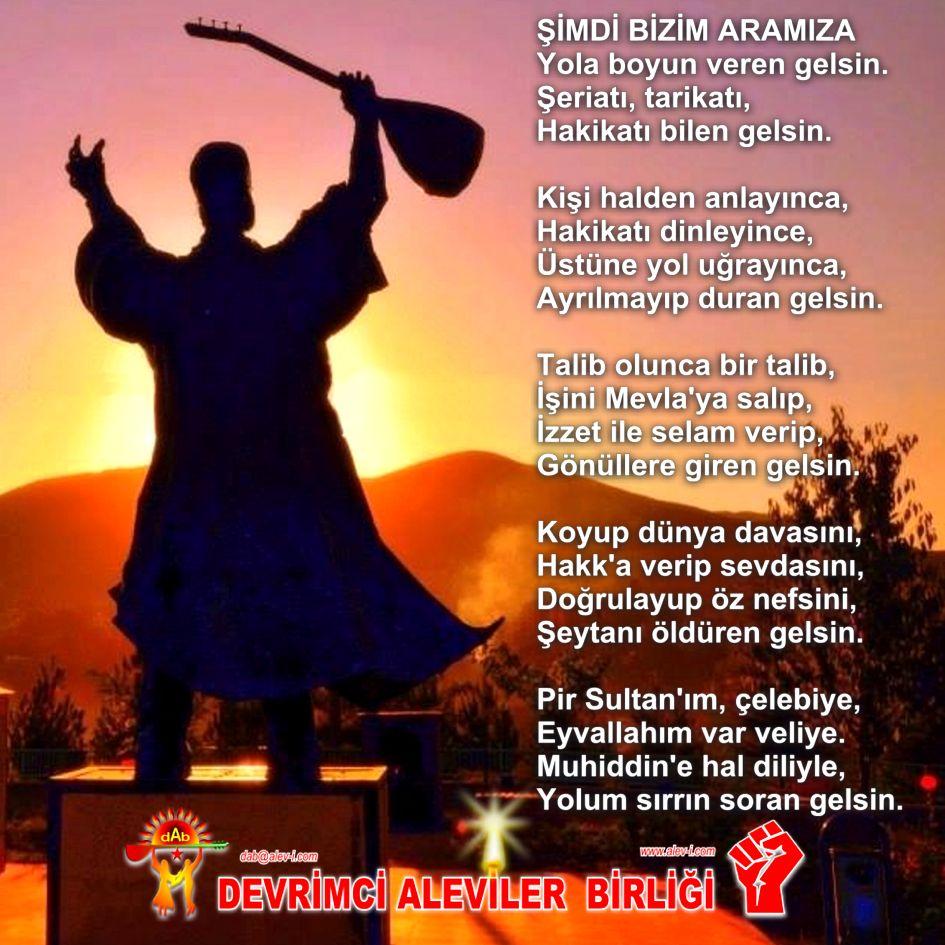 Devrimci Aleviler Birliği DAB Alevi Kızılbaş Bektaşi pir sultan cem hz Ali 12 imam semah Feramuz Şah Acar simdi aramiza soran gelsin