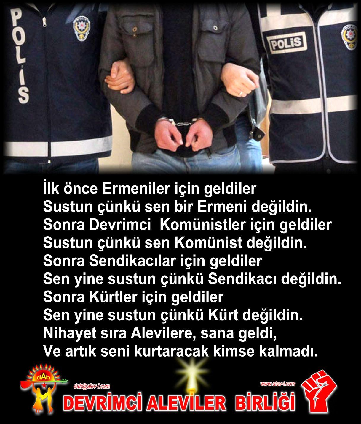 Devrimci Aleviler Birliği DAB Alevi Kızılbaş Bektaşi pir sultan cem hz Ali 12 imam semah Feramuz Şah Acar tutuklama kimse kalmadi