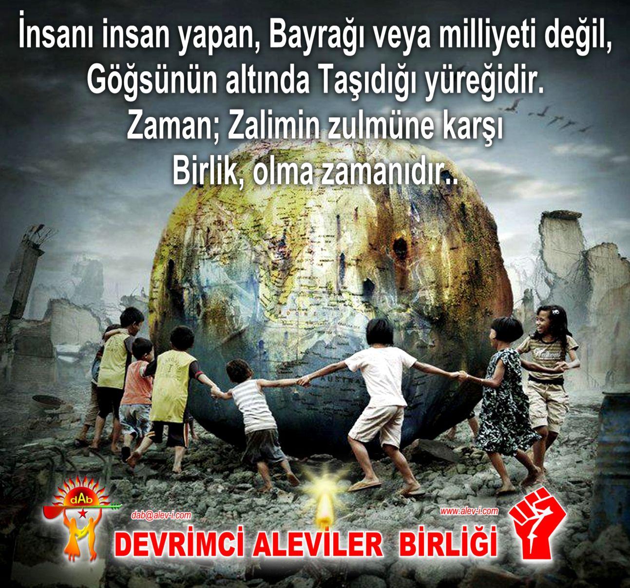 Devrimci Aleviler Birliği DAB Alevi Kızılbaş Bektaşi pir sultan cem hz Ali 12 imam semah Feramuz Şah Acar ty bayrak millet