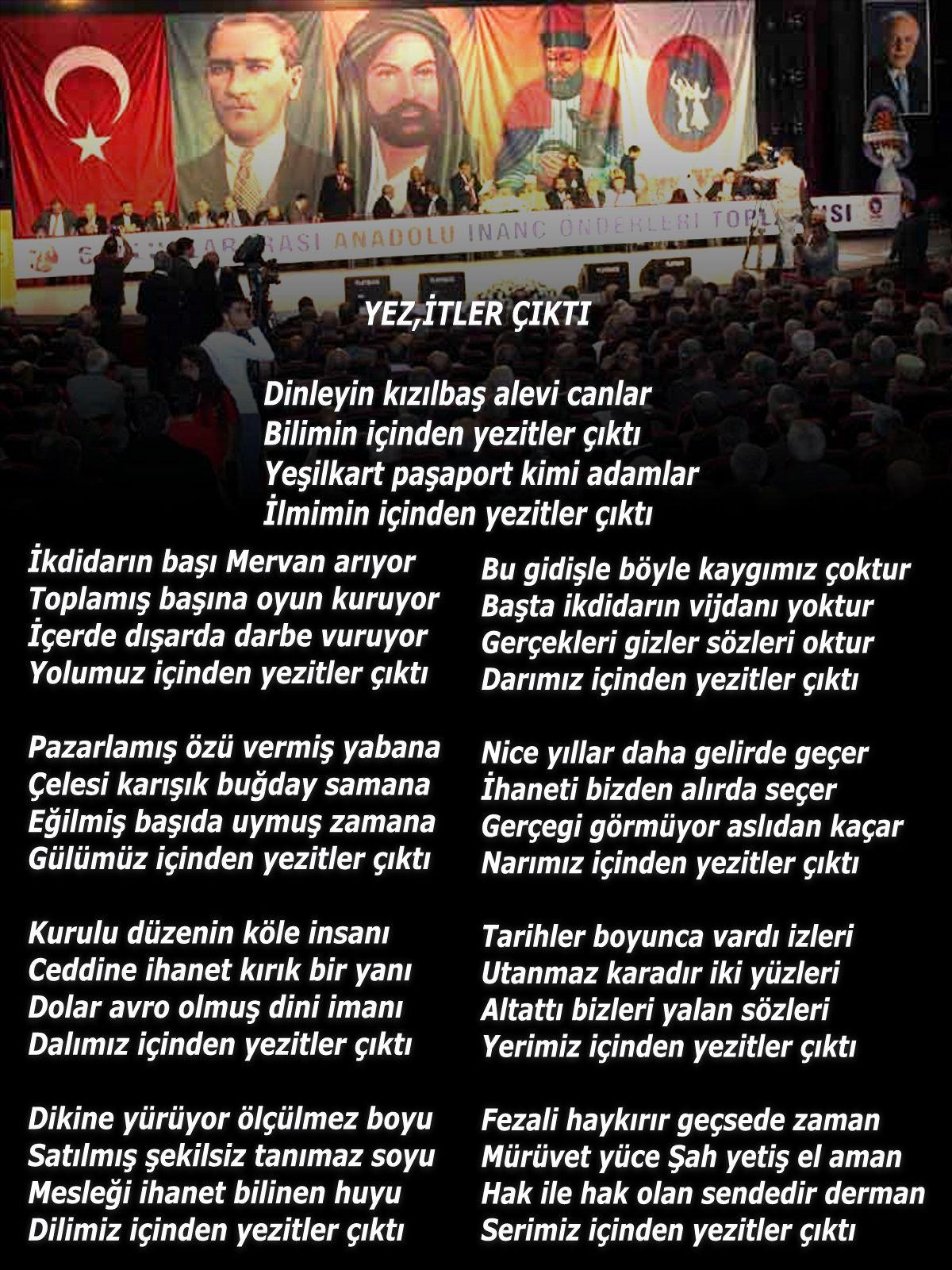 Devrimci Aleviler Birliği DAB Alevi Kızılbaş Bektaşi pir sultan cem hz Ali 12 imam semah Feramuz Şah Acar yezitler cikti