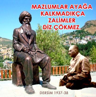 Devrimci Aleviler Birliği DAB Alevi Kızılbaş Bektaşi pir sultan cem hz Ali 12 imam semah Feramuz Şah Acar zalim diz seyid riza heykeli